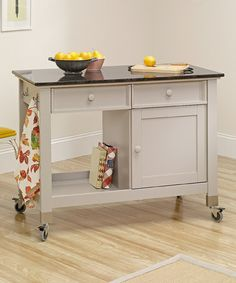 Take a look at this Cobblestone Cottage Mobile Kitchen Island by Sauder on #zulily today!