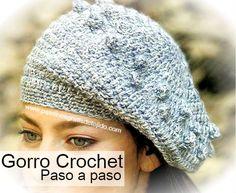 Boina tejida a crochet paso a paso Tejido Crochet Patrones 42c7e2752db