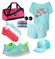 """""""NIKE"""" by nazzbelle ❤ liked on Polyvore featuring NIKE"""
