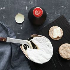 Genshu sake with Tunworth's creamy Winslade cheese - a cheese pairing that's a little different.
