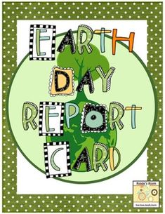 Earth Day Report Card freebie