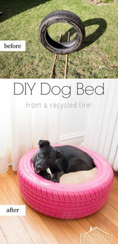 19 DIY Dog Bed From Old Tire