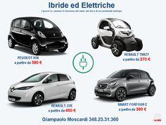 Noleggio Lungo Termine Ibride Elettriche Peugeot Ion Renault Twizy Renault Zoe Smart Forfour