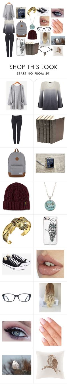 """Cabin 6"" by greek-123 on Polyvore featuring Mint Velvet, Herschel Supply Co., Samsung, Dr. Martens, Bubbly Bows, Lucky Brand, Casetify, Converse, DKNY and Madison Park"