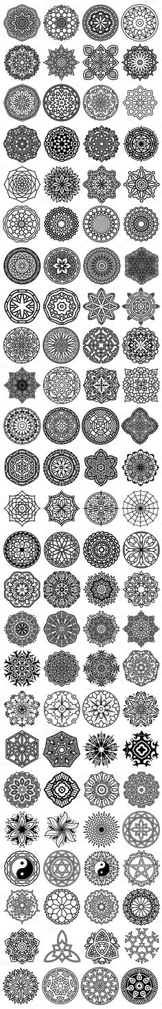 100 Vector #Mandala Ornaments by pixaroma on @creativemarket
