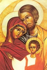 Orthodox church icon of the Holy Family: Joseph, Mary and Joseph. Religious Icons, Religious Art, Sainte Therese, Religion, Byzantine Icons, Holy Mary, Catholic Art, Marriage And Family, Art Icon
