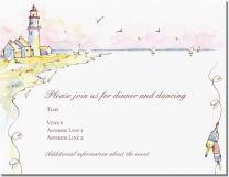 "White Beach Vertical Flat Invitations - 6""x9"", Environmental White Vertical Flat Invitations - 6""x9"" | Vistaprint"