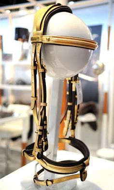 Goood As Gold French company MY8 has some envelope-pushing bridle designs, including this gold number. and it is only $25,000! Photos & Video   The Chronicle of the Horse   Gold Cup