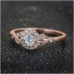 Luxury rose gold engagement ring vintage for your perfect wedding (24)