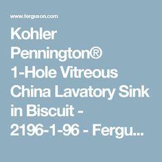 Kohler Pennington® 1-Hole Vitreous China Lavatory Sink in Biscuit - 2196-1-96 - Ferguson