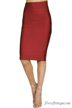 Red Bodycon Pencil Skirt