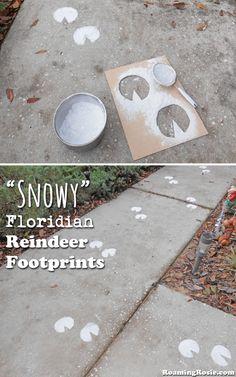 How to Make Snowy Floridian Reindeer Footprints from RoamingRosie.com