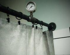 Steampunk Shower Curtain Rod