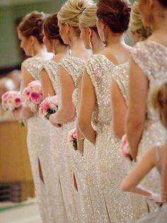 Wedding winter wonderland bridesmaid dresses brides 47 Ideas for 2019 Metallic Bridesmaid Dresses, Sparkly Bridesmaids, Sparkly Dresses, Bridesmaid Gowns, Wedding Bridesmaids, Prom Dresses, Wedding Party Dresses, Wedding Attire, Type 1