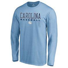 9a8476fed North Carolina Tar Heels Fanatics Branded True Sport Baseball Long Sleeve T- Shirt - Light Blue