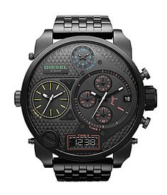 Diesel Black Multifunction #watches