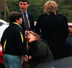 April Princess Diana has her back turned to Prince William engaging in horseplay at the European Grand Prix, Donnington Park, Leicestershire. Princess Diana Rare, Princes Diana, Prince And Princess, Princess Of Wales, Princess Kate, Prince William Family, Prince William And Harry, Prince Charles, Prince Henry