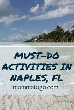 Must Do-Activities in Naples, Florida! Fun things to do with your kids, family, couples or honeymooners! mommatogo.com