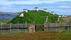 Hobbit-type houses are hardly a modern creation. Tolkien, who was vocal about how highly he regarded the epic poem Beowulf, got some of his inspiration from ancient Scandinavian culture in which underground homes played a notable role. The L'Anse Aux Meadows hill house in Newfoundland, Canada is a recreation of Viking structures that protected inhabitants from the harsh weather.  ♥