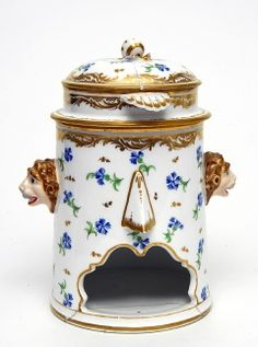 Food Warmer, c.1785  Hard paste porcelain, coloured enamels and gilt  French, Rue Thiroux, Paris