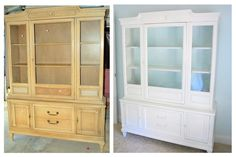 China cabinet re-do. Very good instructions on what primer to choose if you don't want to sand.