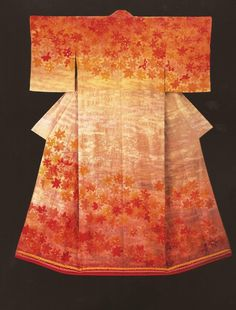 Autumn Sunlight (1983)   by the Late Japanese textile artist Itchiku Kubota(1917-2003)from the exhibition,Kimono as Art: The Landscapes of Itchiku Kubota, Canton Museum of Art in Canton, Ohio (February 8-April 26, 2009). (C) Itchiku Kubota Art Museum in Yamanashi, Japan.
