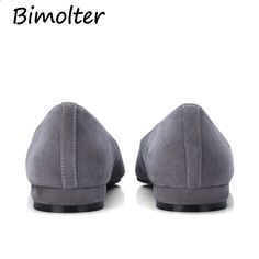 Bimolter Fashion Brand Scarpe da donna Comfort Punta rotonda Appartamenti  in pelle Pelle scamosciata di pecora 6c1d183c3f8