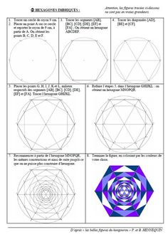 Risultati immagini per géométrie cycle 3 Geometry Art, Sacred Geometry, 8th Grade Art, Graph Paper Art, Montessori Math, Geometric Drawing, Math Art, Math Class, Teaching Art