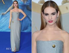 Lily James In Balenciaga - 'Cinderella' London Premiere