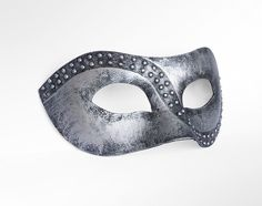 Handpainted Metallic Silver Masquerade Mask Made To by SOFFITTA, $15.50