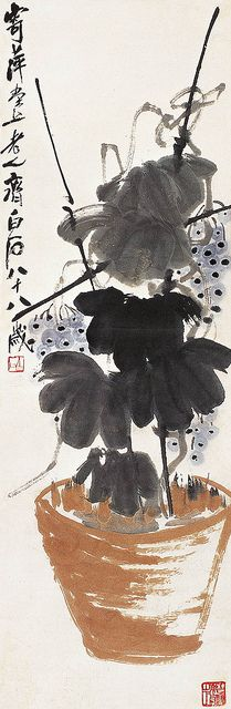 Qi Baishi. 齐白石 葡萄 by China Online Museum - Chinese Art Galleries, via Flickr Qi Baishi.