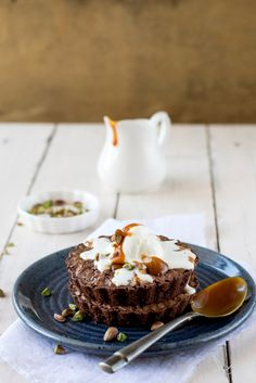 Millet Brownies With Salted Butter Caramel