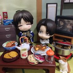Eren : Drinking tea is good for health, right?? Heichou.  Levi : Do what you want, you shitty brat.