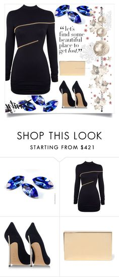 """Untitled #2"" by mica-03 ❤ liked on Polyvore featuring Agent Provocateur, Casadei and Victoria Beckham"