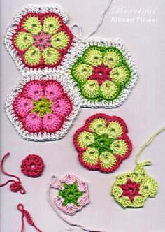 african flower-making this as we pin! love the African Flower Granny!-a.e.