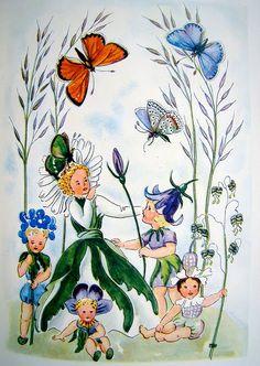 Schmetterlingszauber, 1950,  by Anny Kohler,  illustrated by Mila Lippmann-Pawlowski
