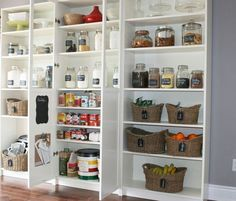 BILLY Bookcase as Kitchen Cupboards. A good solution to make your kitchen stuffs organized.