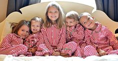 Etsy find of the day - kids' striped Christmas pyjamas #Christmas, #Etsy, #Handmade, #Personalisation, #Pyjamas