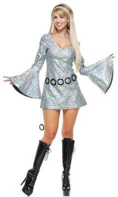 Sparkle Diva Disco Costume More