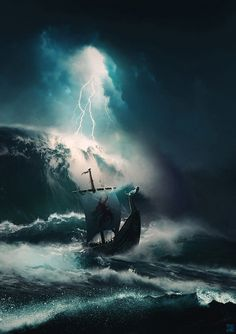 Artwork of vikings, longships and Norse mythology. Norse Mythology Tattoo, Norse Tattoo, Viking Tattoos, Armor Tattoo, Viking Life, Viking Art, Viking Warrior, Valhalla Viking, Viking Wallpaper