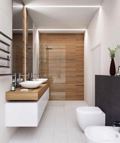 Houzz Bathroom, Small Bathroom Tiles, Modern Bathroom Design, Contemporary Bathrooms, Bathroom Interior Design, Bathroom Designs, Bathroom Goals, Interior Ideas, Bathroom Mirrors