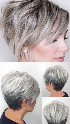 The lovely ombre style is the most discussed topic these days. While many think that it's a perfect style for long hair some others experiment with it on their short hair. Actually ombre is not only for long hair. Pixie Haircut For Thick Hair, Short Hairstyles For Thick Hair, Short Pixie Haircuts, Braids For Long Hair, Short Hair Styles, Woman Hairstyles, Simple Hairstyles, Holiday Hairstyles, Easy Hairstyle