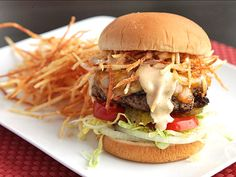 Cuban Fritas (Seasoned Cheeseburgers with Shoestring Potatoes and Spicy Sauce)   Serious Eats : Recipes