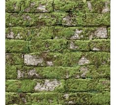 Old mossy white bricks Koziel in France sells beautiful, realistic,  Moss Brick wallpaper (and many more)
