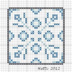 Creative Workshops from Hetti: # SAL Delft Blue Tiles 2012, Tile 14 (tile 15 in the sampler)