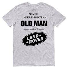 Land Rover Mens T-Shirt 70 's Retro onderschat nooit oude