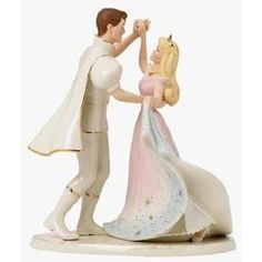 sleeping beauty and prince wedding cake topper