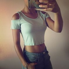 Open Shoulder Crop top New. Perfect Condition! Tags removed but never been worn. Super cute light gray color. Perfect for night out or summer outfits. (I ALSO HAVE ONE IN BLACK) Foreign Exchange Tops Crop Tops