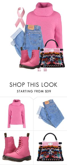 """""""Pink"""" by terry-tlc ❤ liked on Polyvore featuring Lowie, Levi's, Dr. Martens, Fendi and Palm Beach Jewelry"""