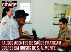 Boletim de ocorrência é realizado contra falsos agentes de saúde em Santo Antônio do Monte. Leia mais: http://www.jornalcidademg.com.br/falsos-agentes-de-saude-praticam-golpes-em-idosos-de-santo-antonio-monte/